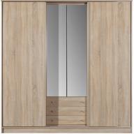 Greta -tükrös gardrób szekrény (200 x 205)