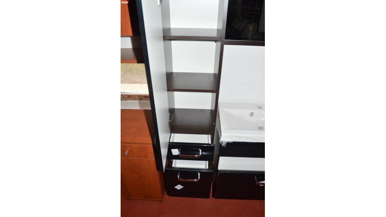 modern fürdőszoba bútor - wenge/MDF fényes fehér