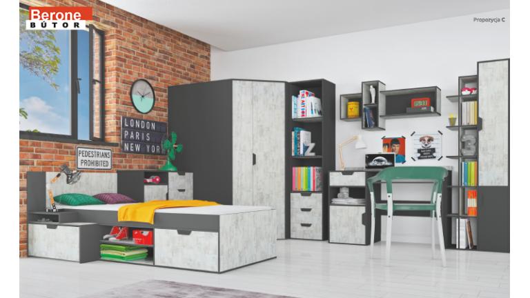 Na6 ifjúsági bútor - szekrény