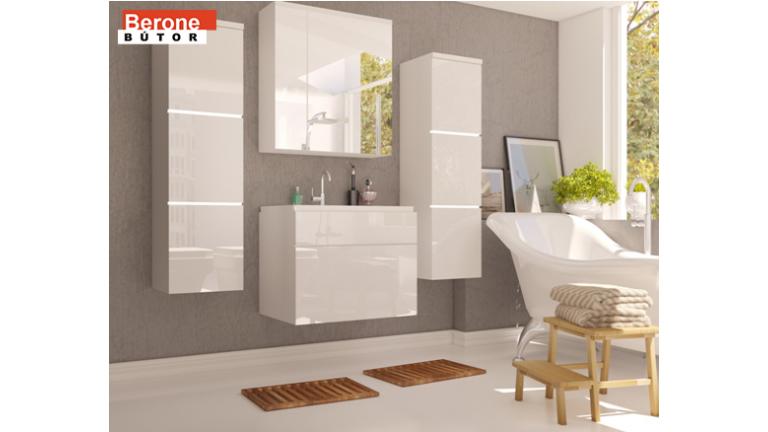 fürdőszoba bútor - fehér/fényes fehér vagy fehér/fényes fekete