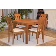 Dolce tömörfa étkezőgarnitúra  - asztal + 4 szék - RAKTÁRRÓL!