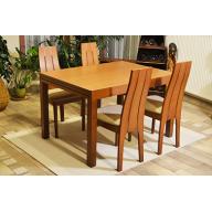 Alpine 4 személyes fa étkezőgarnitúra  - fa asztal + 4 szék - RAKTÁRRÓL!