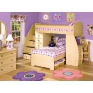 Szidón 2 személyes emeletes gyerekágy + beépített íróasztal