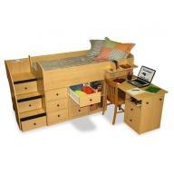 Szofi emelt gyerekágy + beépített íróasztal