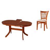 Linz étkezőgarnitúra nyitható asztal + 4 szék