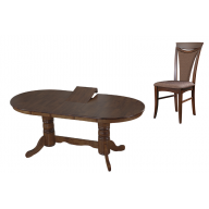 Klasszikus ebédlő garnitúra nyitható asztal + 4 szék