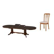 Hubert kinyitható étkező garnitúra nyitható asztal + 4 szék