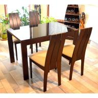 Astro üveg asztalos étkezőgarnitúra - Kinyitható üveges asztal + 4 szék