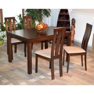 Cézár étkezőgarnitúra 4 személyes  - Összecsukható asztal + 4 szék RAKTÁRON