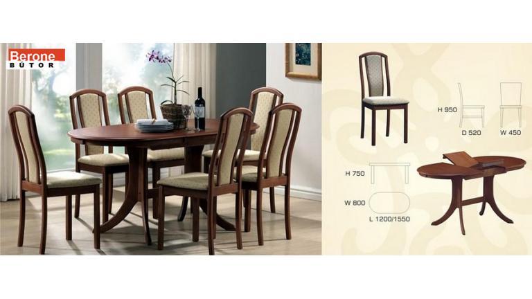 Avana étkező garnitúra - asztal + 6 szék