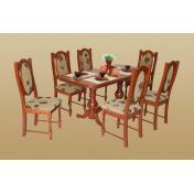 Cuba étkezőgarnitúra - Európa asztal + 6 szék - gazdag színválaszték