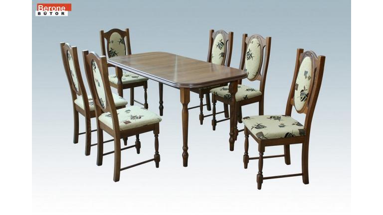 Cuba étkezőgarnitúra - Vénusz asztal + 6 szék - gazdag színválaszték!