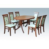 Linda étkezőgarnitúra - Bóni asztal + 6 szék - gazdag színválasztékban