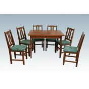 Tulipános étkezőgarnitúra - Miki asztal + 6 szék - gazdag színválaszték