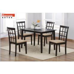 Palermo tömör fa étkezőgarnitúra - asztal + 4 szék - RAKTÁRON!