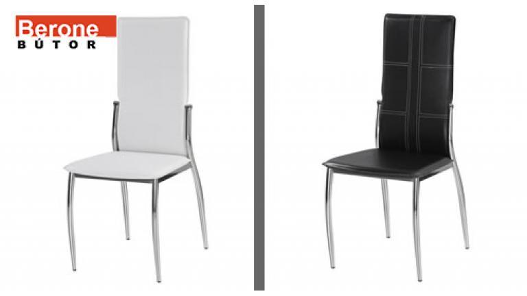 üveg étkező garnitúra 4 króm székkel