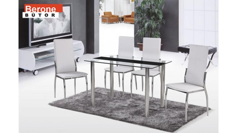 Crystal üveg étkezőasztal