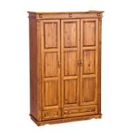 3 ajtós + 2 fiókos, válaszfalas szekrény - diópáccal kezelt RAKTÁRRÓL AZONNAL!