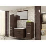 Evo modern fürdőszoba bútor - wenge/ wenge