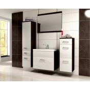 Evo modern fürdőszoba bútor - wenge/MDF fényes fehér