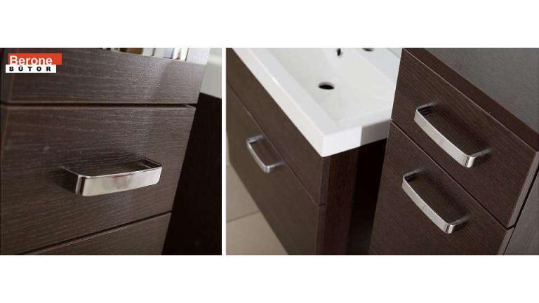 modern fürdőszoba bútor - wenge/ wenge
