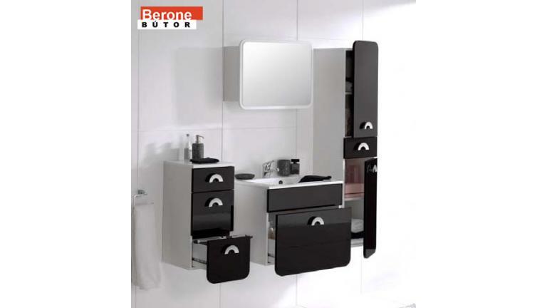 elemes fürdőszoba - magas szekrény