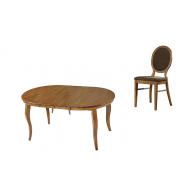 Angelica kihúzható étkezőgarnitúra nyitható asztal + 4 szék