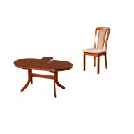Watson antik étkezőgarnitúra (kinyitható asztal + 4 szék) - RAKTÁRKÉSZLETRŐL