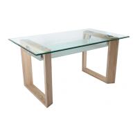 Hasle modern üveg étkezőasztal-RAKTÁRRÓL!