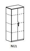 Suky SUKY NU1 - polcos szekrény